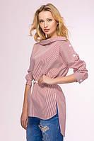 Розовое платье-рубашка SHARP ТМ Tatiana 44-48 размеры