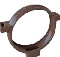 Хомут трубы ПВХ  Альта Коричневый, фото 1