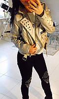 13953 Куртка серебро