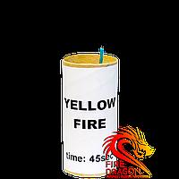 Фаер желтого огня, время горения: 45 секунд, цвет огня: желтый