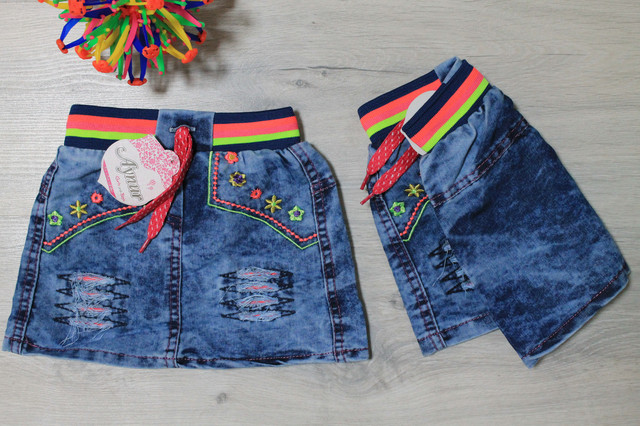 джинсовая юбка для девочки style-baby.com