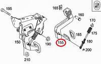 MERCEDES 6392900216 Педаль сцепления Mercedes Benz Vito 639 03-