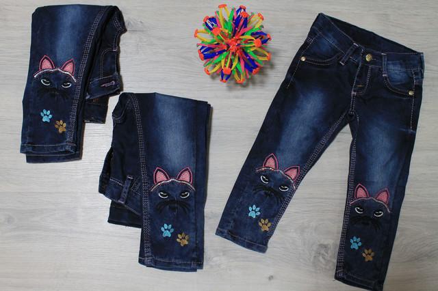 джинсы для девочки с вышивкой style-baby.com