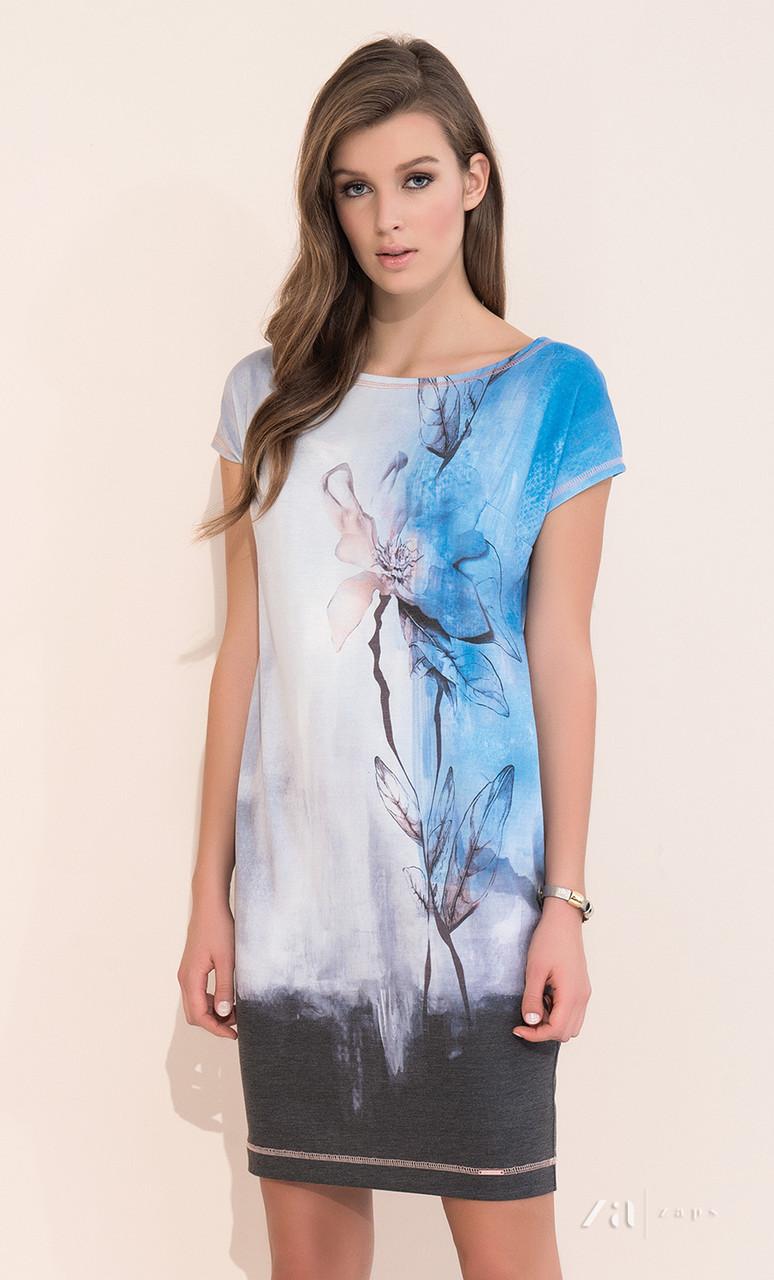 Летнее повседневное платье с цветочным рисунком, короткий рукав. Модель Torri Zaps, размер S