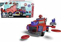 """Автомобиль Dickie Toys """"Трансформер Оптимус Прайм"""" с функц. стрельбы, свет. и звук. эффектами, 23 см (3116003)"""