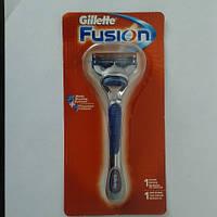 Станок мужской для бритья Gillette Fusion + 1 картридж, фото 1