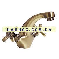Смеситель для умывальника Haiba (Хайба) Dominox bronze 161