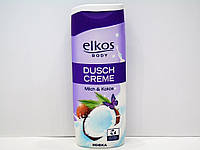 Гель для душа Elkos с молоком и экстрактом кокоса 300мл