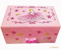 Музыкальная шкатулка с балериной (Розовая)