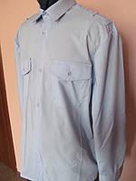 Рубашка   форменная мужская прямого кроя с длинным рукавом  с системой для крепления погонов