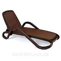 Лежак Alfa шоколадный