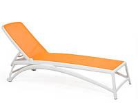 Лежак пластиковый Atlantico  белый/оранжевый
