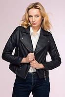 Классическая темно-синяя короткая куртка-косуха LOOKER ТМ Tatiana 44-48 размеры