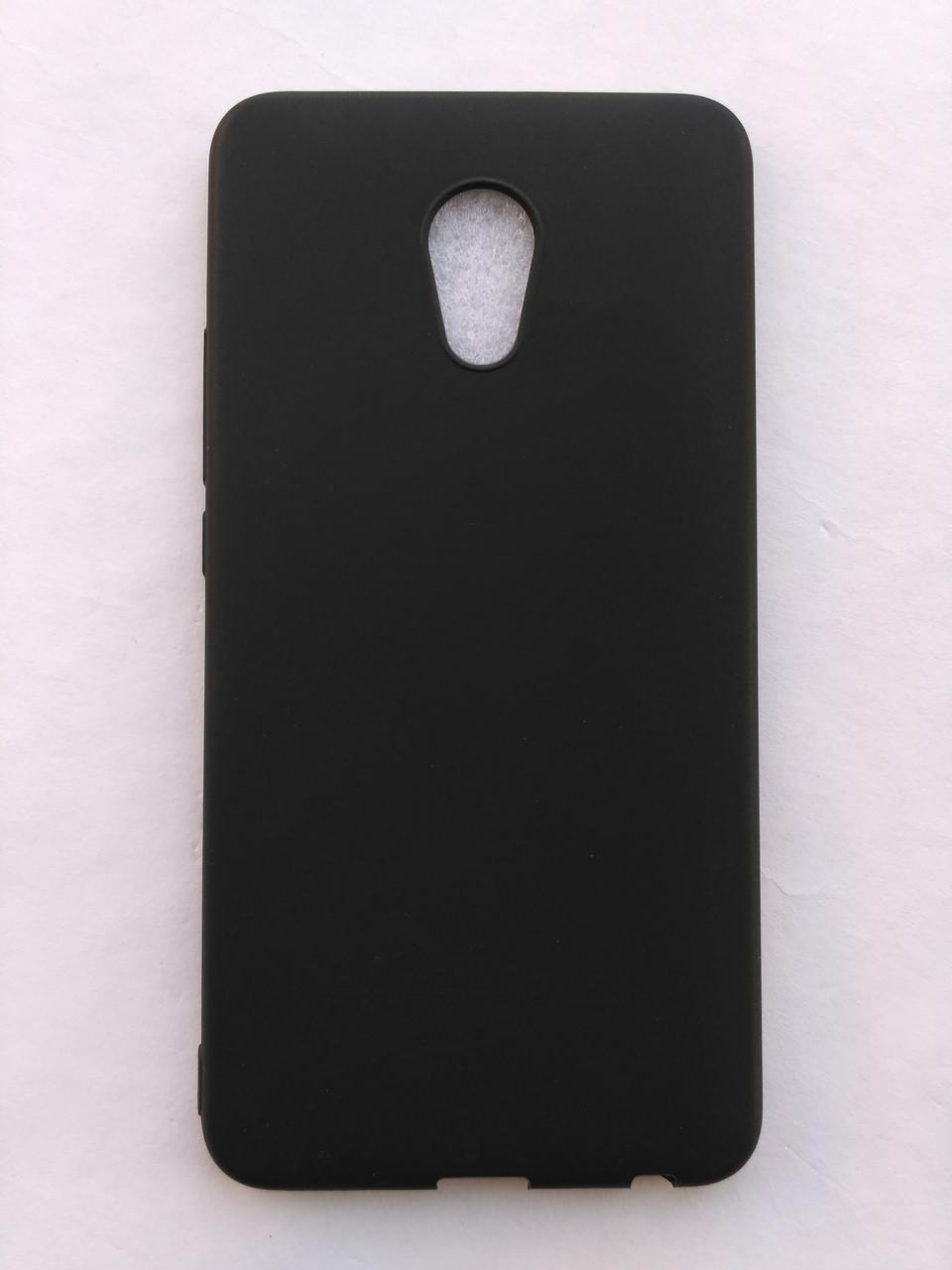 Силиконовый чехол для Meizu Pro 6 Plus черный матовый