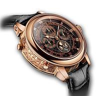 Часы  Patek Philippe Sky Moon Tourbillon Gold черные. ТОЧНАЯ копия! Элит качество!