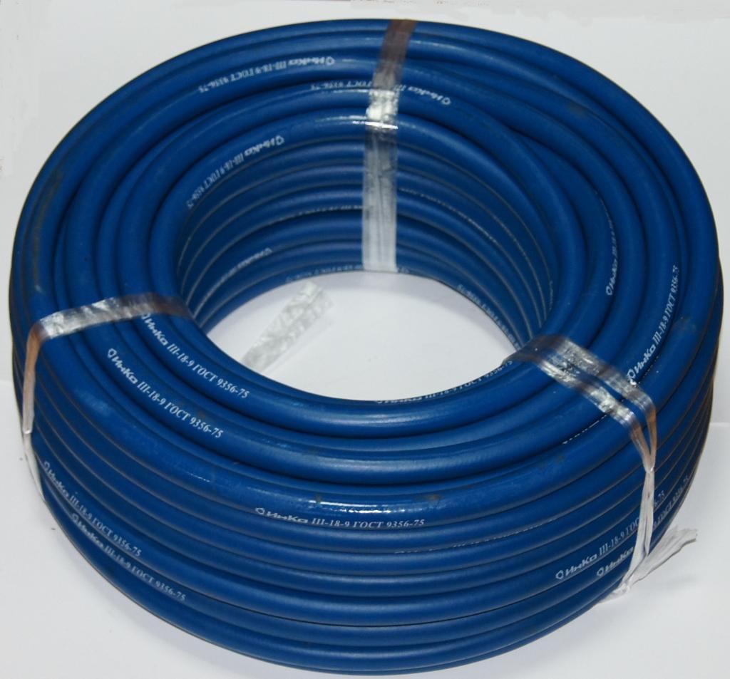 Кислородный шланг 9 мм синий Safegas