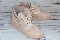 Ботинки женские кожаные на весну 503-1, цвет розовый