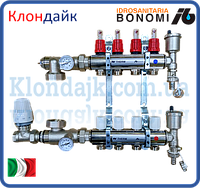 Bonomi Коллектор для теплого пола в сборе на 9 контуров (Италия)
