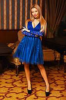 Женское боди с юбкой на гипюровой основе