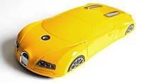 """Телефон-машинка Bugatti Veyron C618 (2 SIM) 2,2"""" 0,3 Мп yellow желтая Гарантия!"""