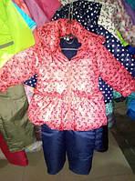 "Демисезонный костюм для девочки ""Розовое бантики"""
