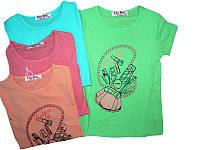 Футболка для девочек, размеры 98,104,110,116,122,128, Glass Bear, арт. C-8943