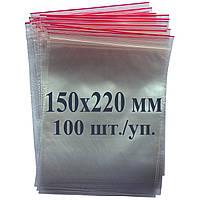 Пакет с застёжкой Zip lock 150*220 мм, фото 1