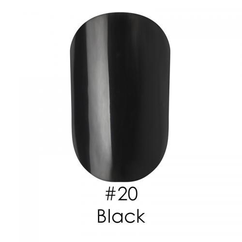 Гель лак для ногтей Naomi №020 черный, 6 мл