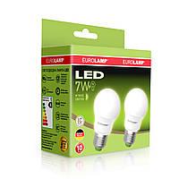 """Промо-набір EUROLAMP LED Лампа A50 7W E27 3000K акція """"1+1"""""""