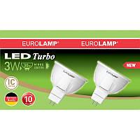 """Промо-набір EUROLAMP LED Лампа MR16 3W GU5.3 3000K акція """"1+1"""""""