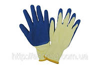 Перчатки трикотажные с латексным покрытием, синие