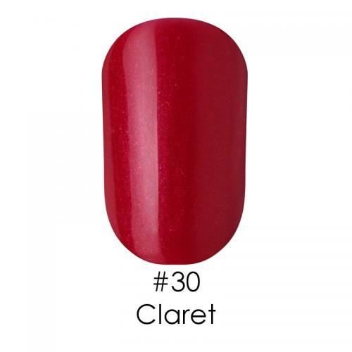 Гель лак для ногтей Naomi №030 бордовый с проблеском розовых шиммеров, 6 мл