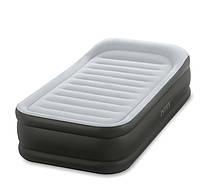 Кровать велюр Intex 64432 99-191-42 см ,усиленная со встроенным насосом 220В