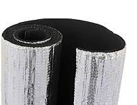 Листовая теплоизоляция. Алюфом R. Каучук с покрытием из алюминиевой фольги, 25 мм