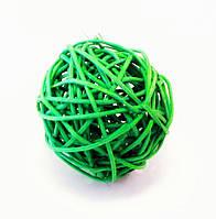 Шар-Ротанг (зелёный)-Ø 8,0 см.