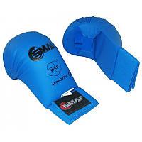 Перчатки для карате SMAI WKF (SM P101) Blue без защиты большого пальца