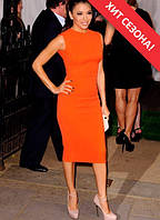 Оранжевое женское платье