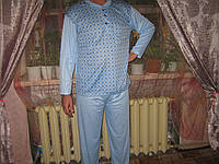 Пижама мужская  голубая 100% хлопок размер XXXL и XXL (50-54)
