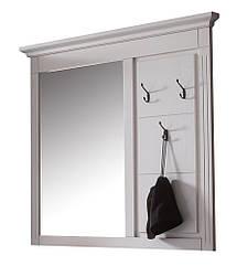Вешалка с зеркалом в прихожую из массива дерева 013
