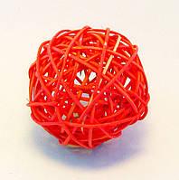 Шар-Ротанг (малиновый)-Ø 6,0 см., фото 1