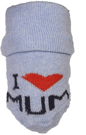 "Носочки махровые Biedronka ""Я люблю Маму"", фото 2"