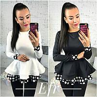 """Блуза с баской женская """"Оушен"""""""
