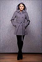 Пальто женское на весну серое со скидкой