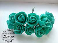 Розы из латекса бирюза