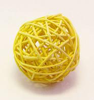 Шар-Ротанг (жёлтый)-Ø 10,0 см.