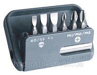 Набор насадок отверточных с магнитным держателем, S2 6 шт., 25 мм, Berg