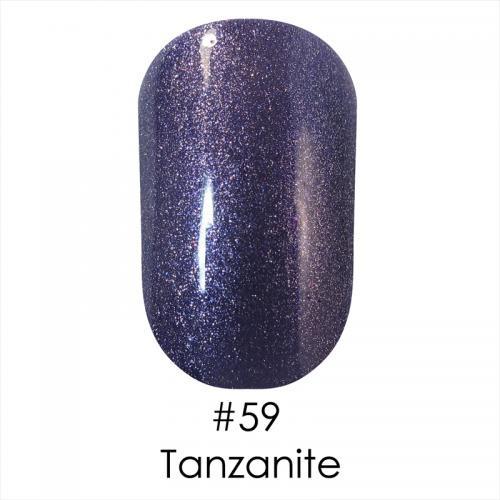 Гель лак для ногтей Naomi №059 фиолетово-стальной с шиммером, 6 мл