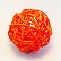 Шар-Ротанг (оранжевый)-Ø 8,0 см.