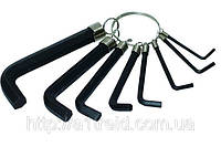 Набор ключей имбусовых, Cr-V, 9 штук, (1,5–10 мм)