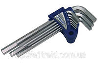 Набор ключей имбусовых с шаром, удлиненных, Cr-V, 9шт. (1,5–10 мм), Konner